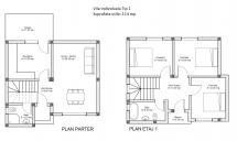 plan casa individuala teren militari rosu