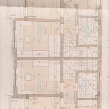 plan etaj vile duplex rosu padure
